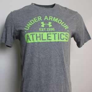 "Under Armour ""Athletics"" Heat Gear Med Graphic T"